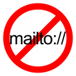 International No Symbol with mailto text